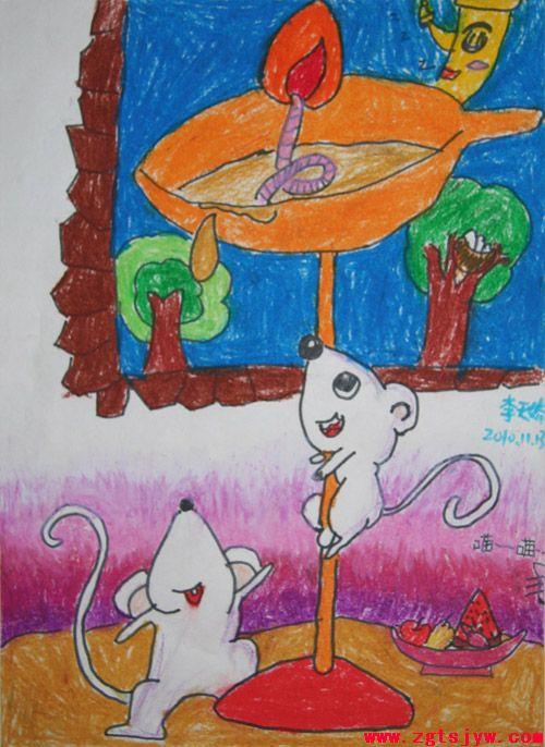 优秀儿童画展示--李天娇-百家
